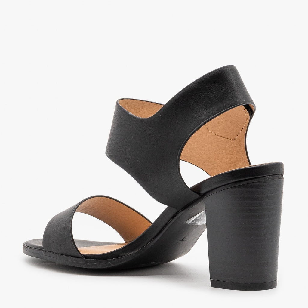Womens Chic Velcro Clasp Heels - Novo Shoes