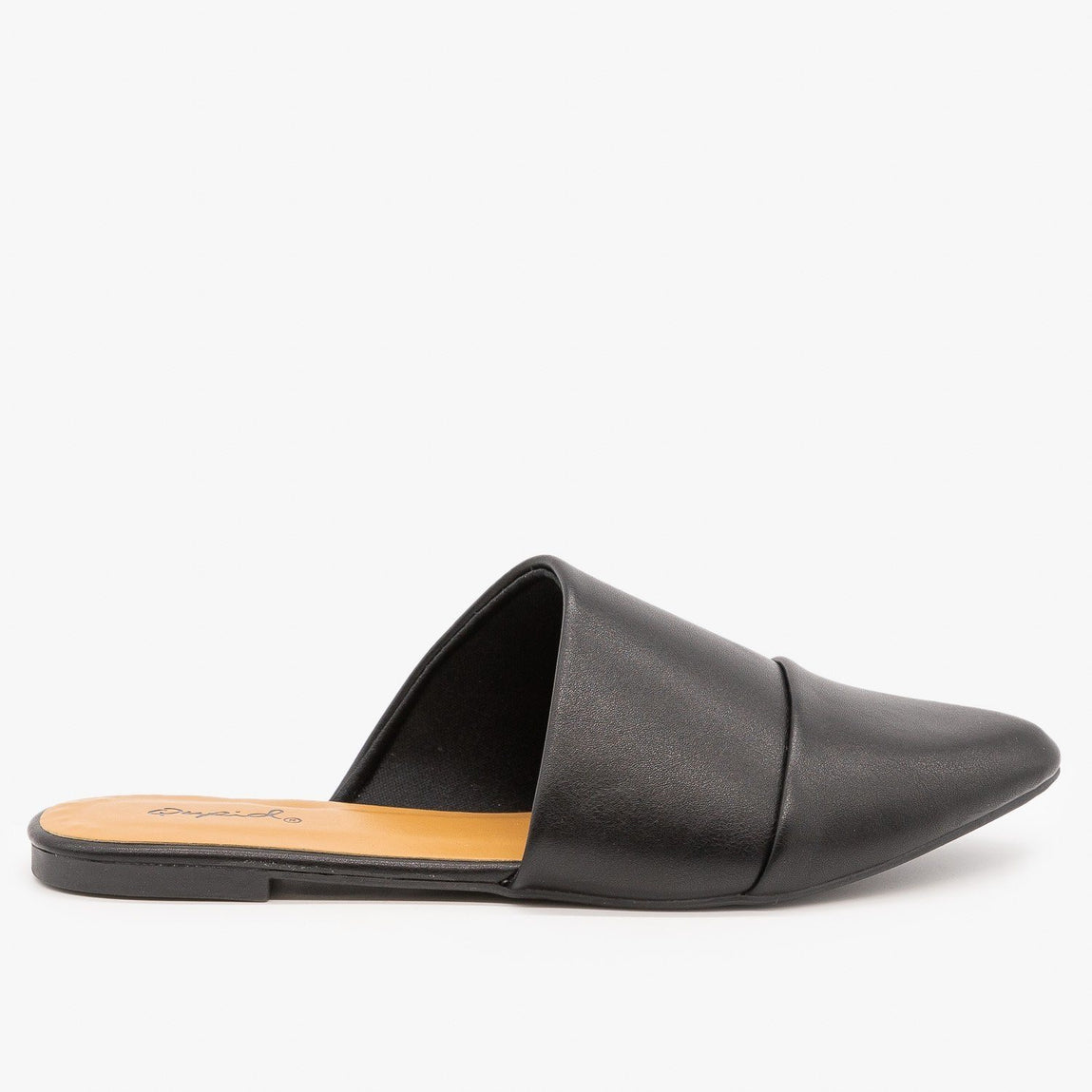 Womens Chic Wrapped Mules - Qupid Shoes - Black / 5