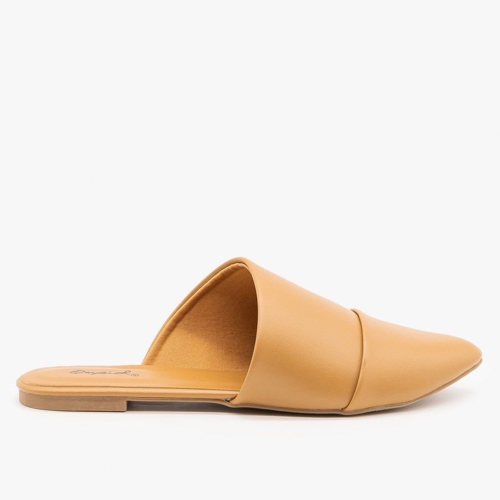 Womens Chic Wrapped Mules - Qupid Shoes - Butterscotch / 5
