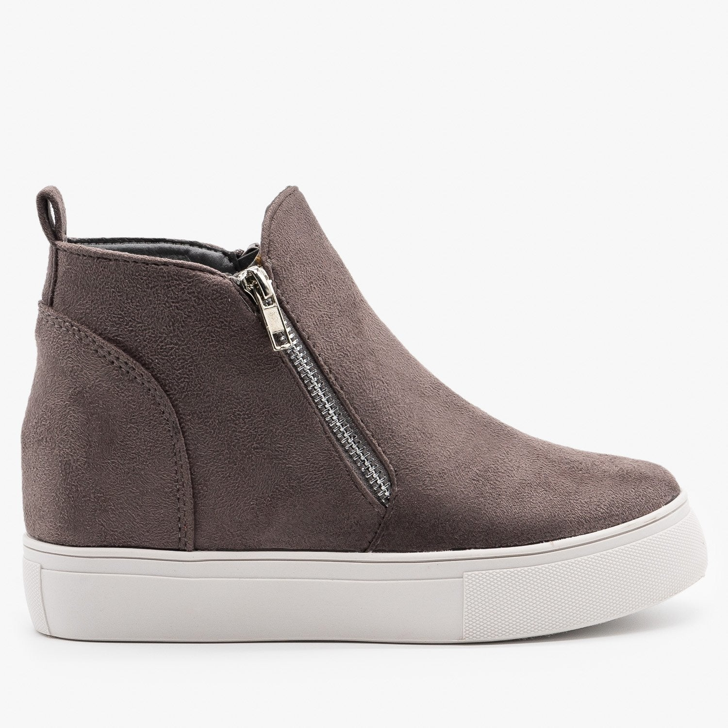 Chic Zippered Inner Wedge Sneakers
