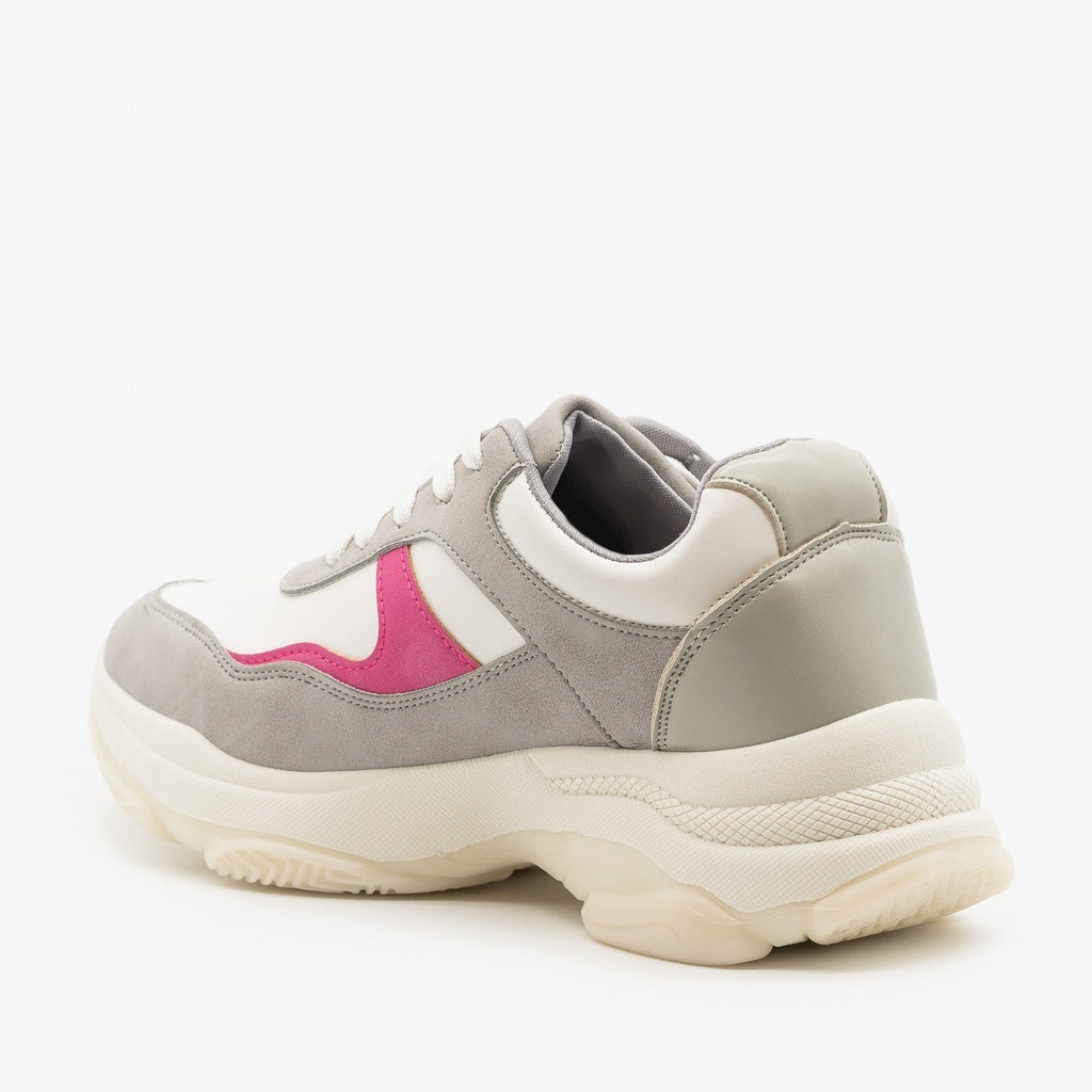 Womens Chunky Color Block Sneakers - Unilady
