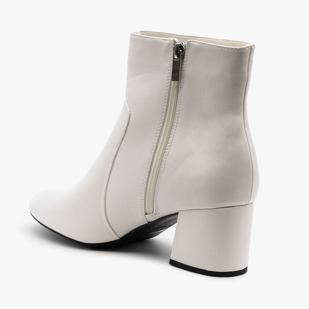 Womens Chunky Heel Party Booties - Bamboo Shoes