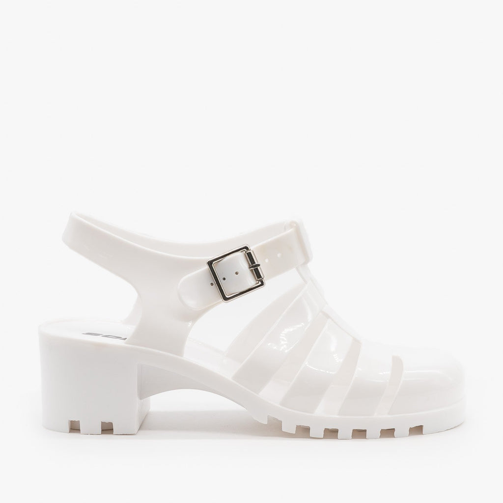 Womens Chunky Retro Sandals - Soda Shoes