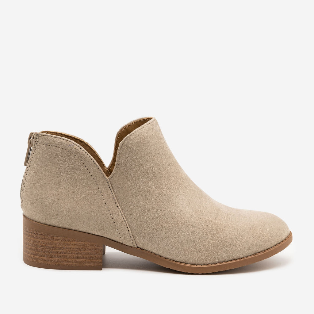 Women's Classic Ankle Booties - Soda Shoes - Light Clay / 5