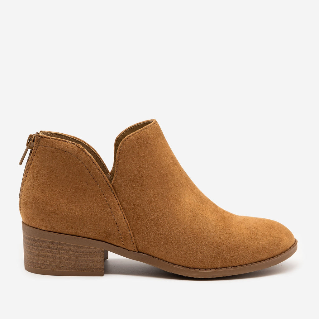 Women's Classic Ankle Booties - Soda Shoes - Cham / 5