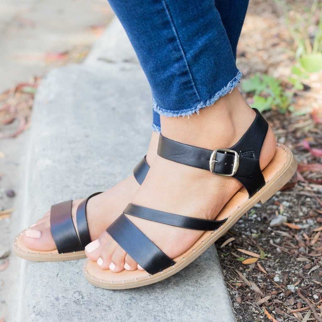 Womens Classic Ankle Strap Sandal - Weeboo
