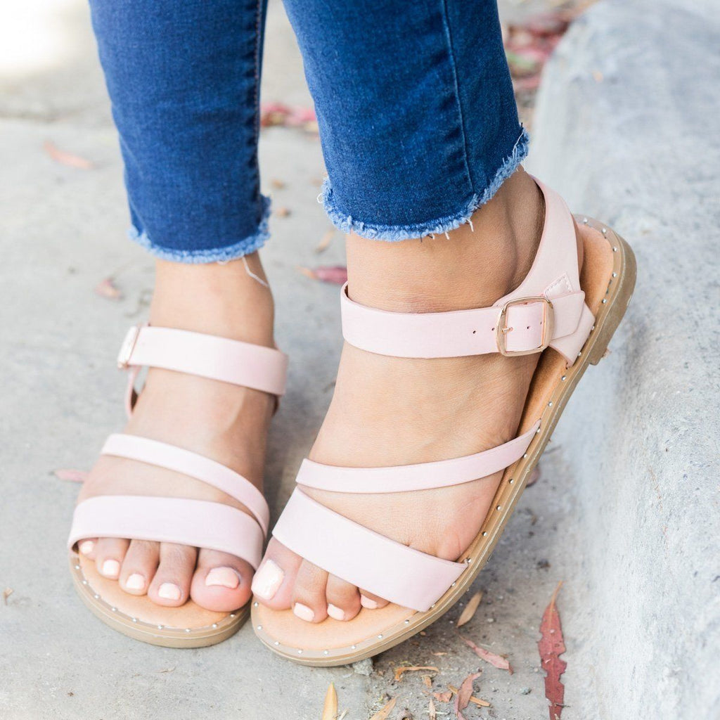 Womens Classic Ankle Strap Sandal - Weeboo - Blush / 5
