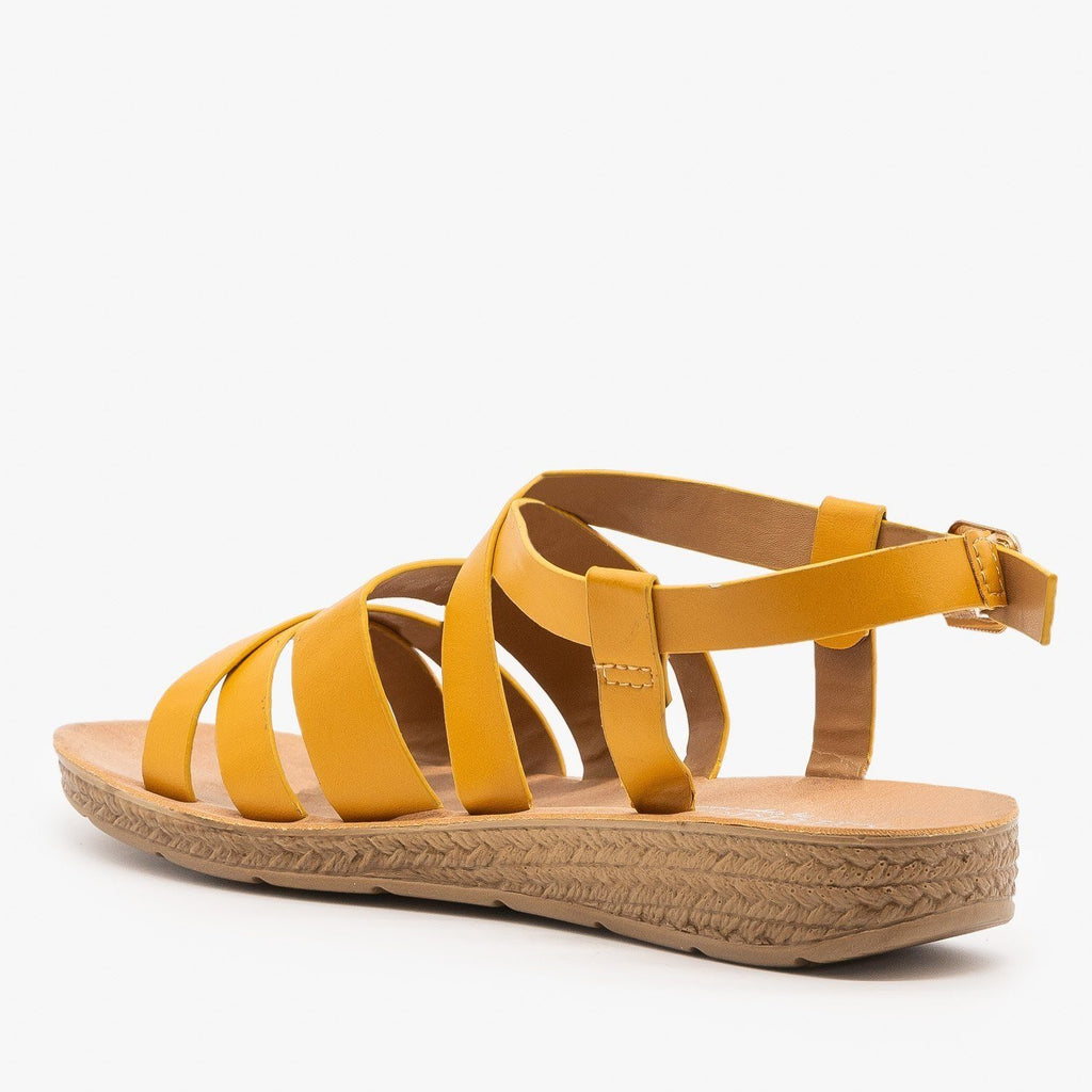 Womens Classic Comfy Criss Cross Sandals - Elegant
