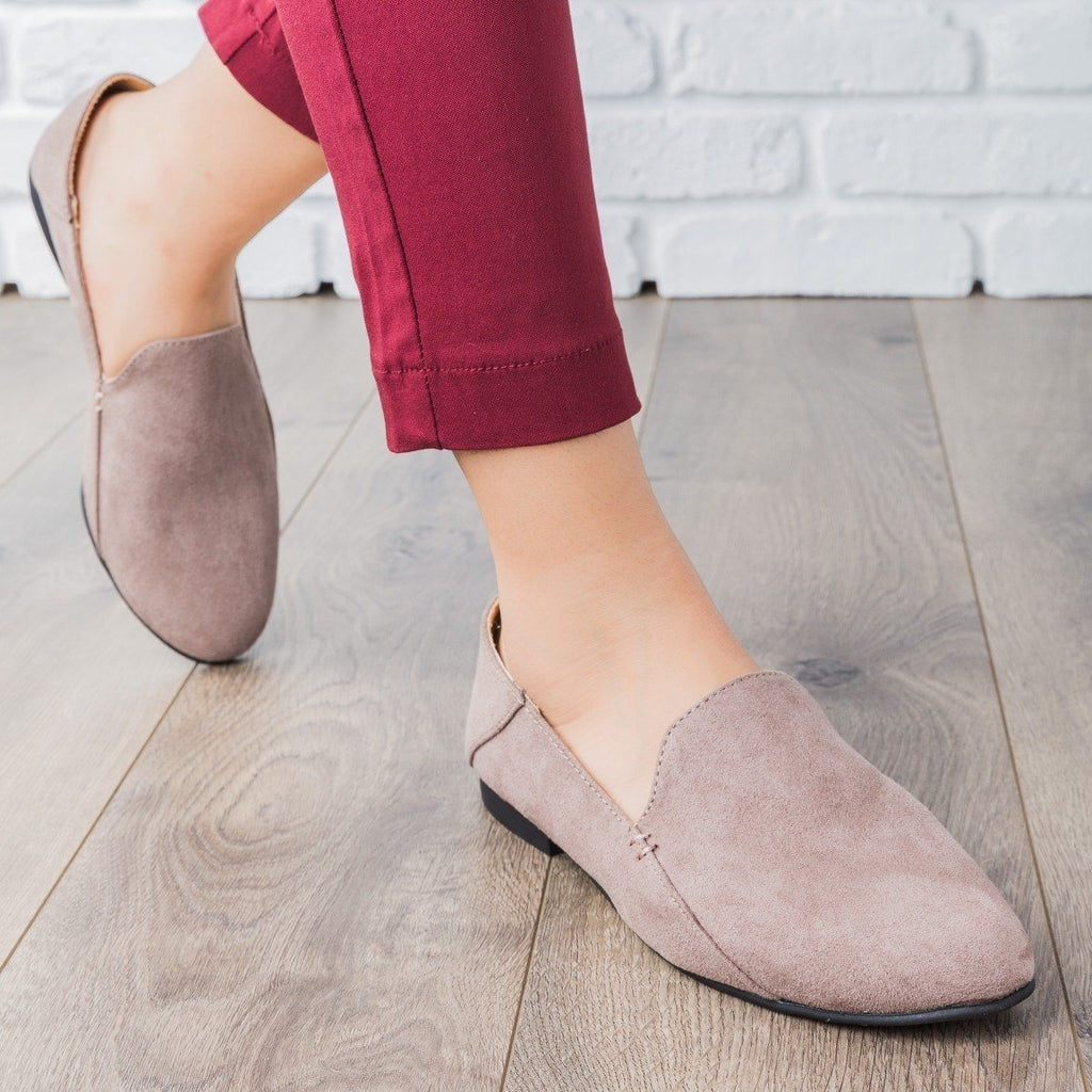 Womens Classic Comfy Loafers - Qupid Shoes