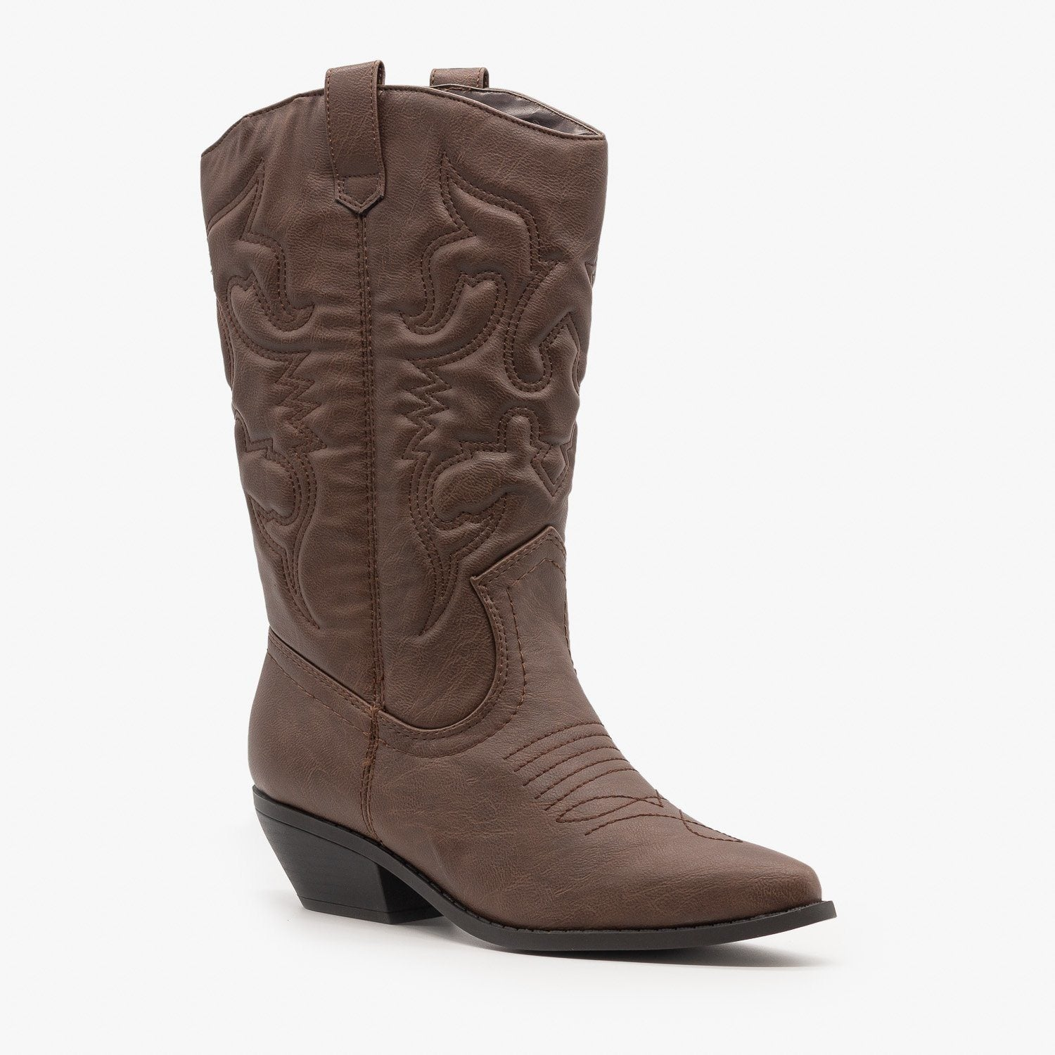 Classic Embroidered Cowboy Boots - Soda