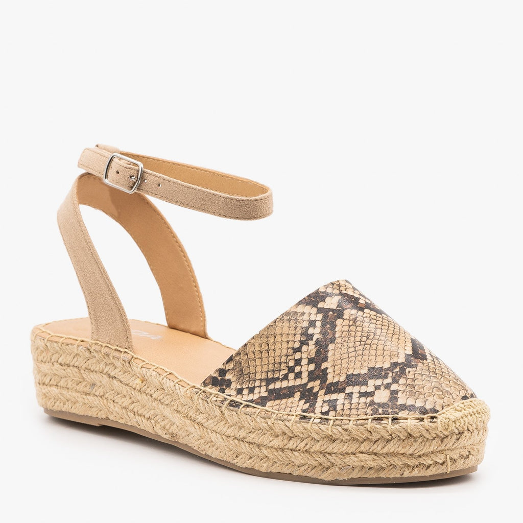 Womens Classic Espadrille Sandals - Soda Shoes