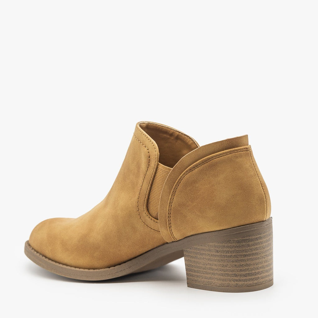 Womens Classic Everyday Ankle Booties - Qupid Shoes