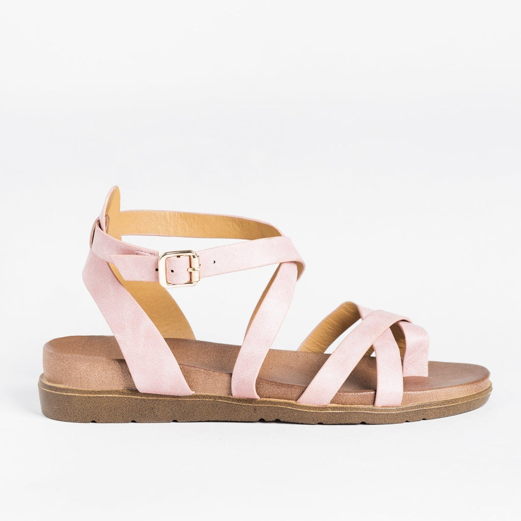 Womens Classic Everyday Strappy Sandals - Forever - Mauve / 5