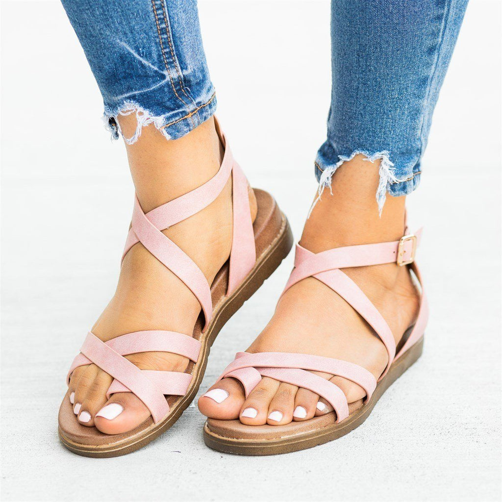 Womens Classic Everyday Strappy Sandals - Forever