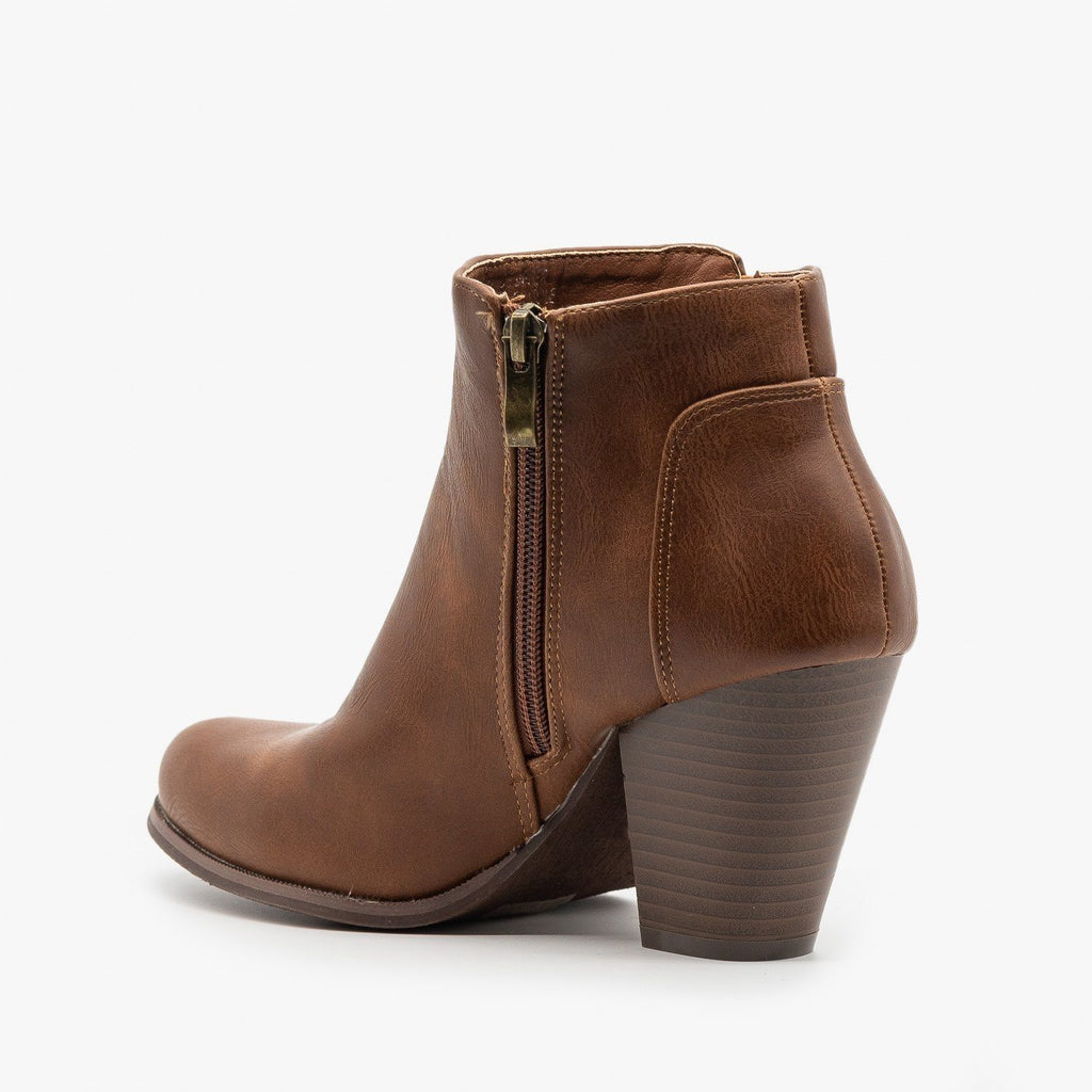 Womens Classic Fall Ankle Booties - Fashion Focus