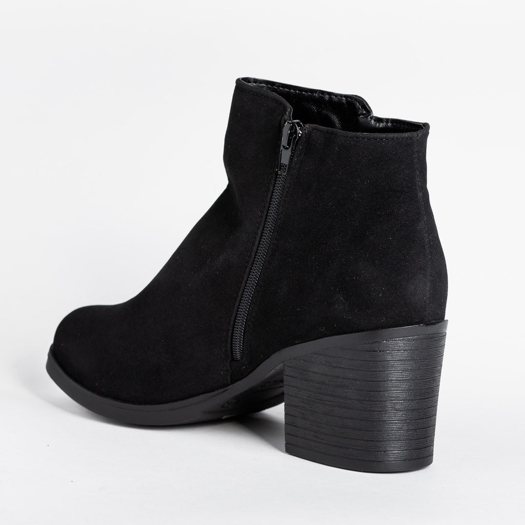Womens Classic Fashion Ankle Booties - Bamboo Shoes