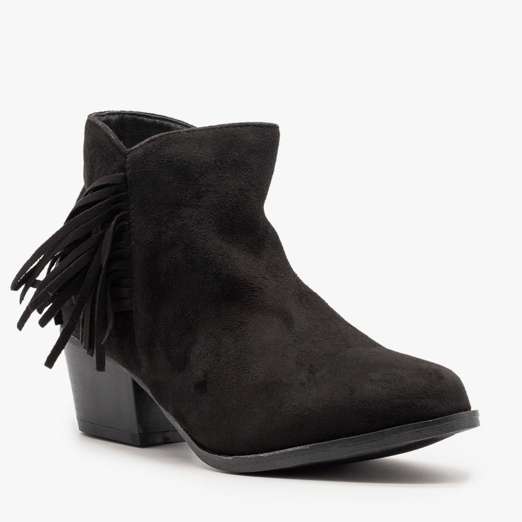 Womens Classic Fringe Booties - Bella Marie