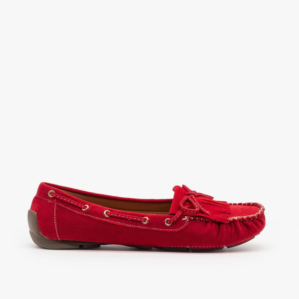 Womens Classic Fringe Moccasin Flats - Forever