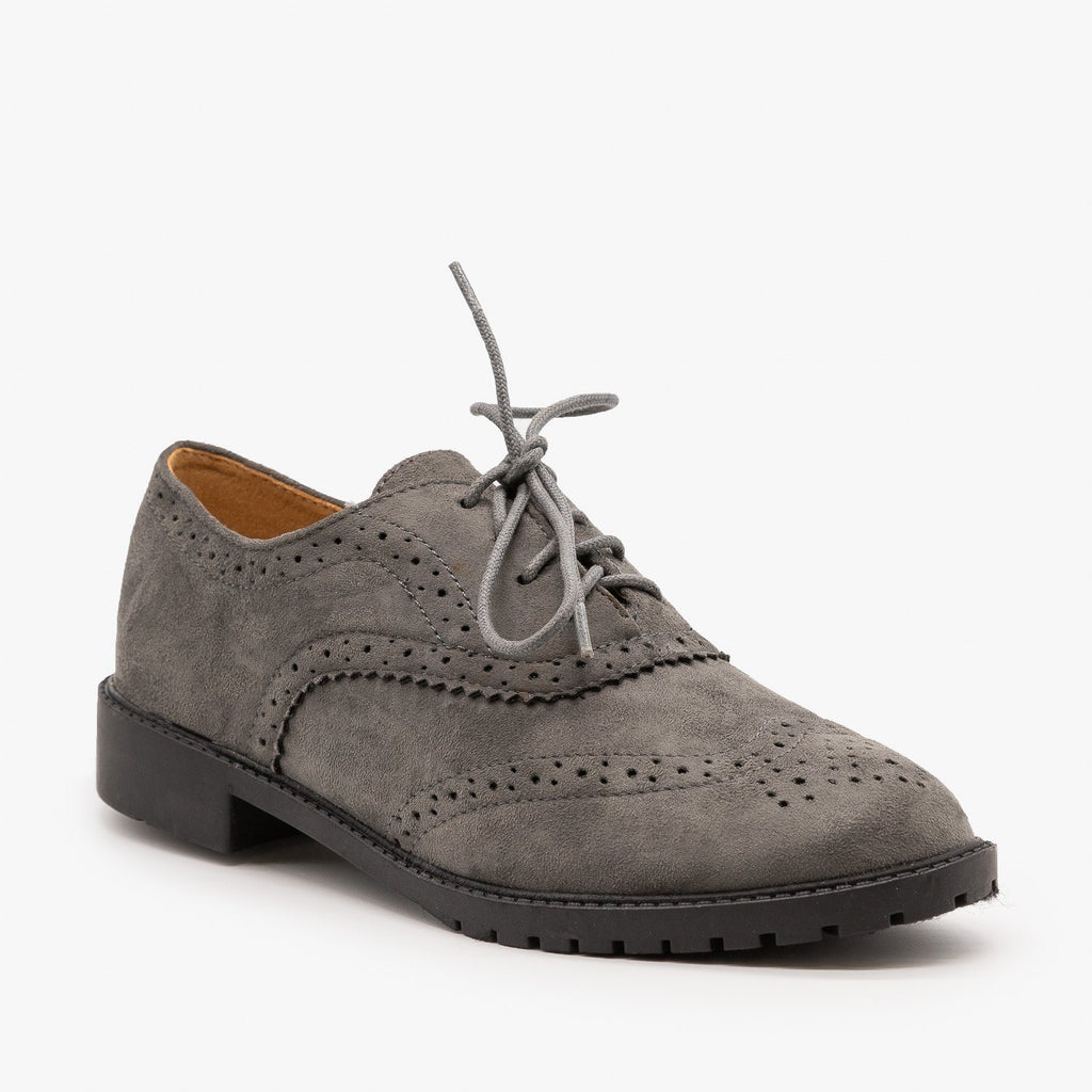 Womens Classic Oxfords - Forever - Gray / 5