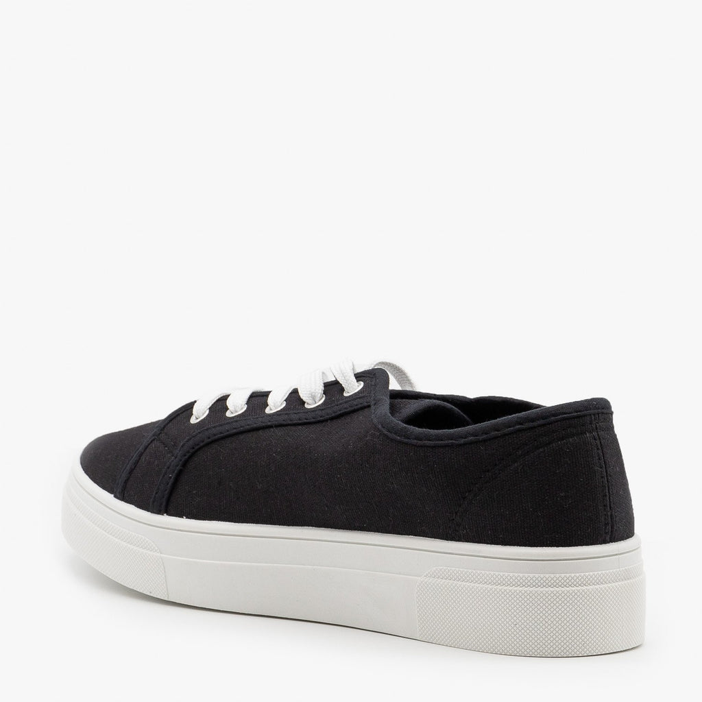 Womens Classic Platform Sneakers - La Sheelah Shoes
