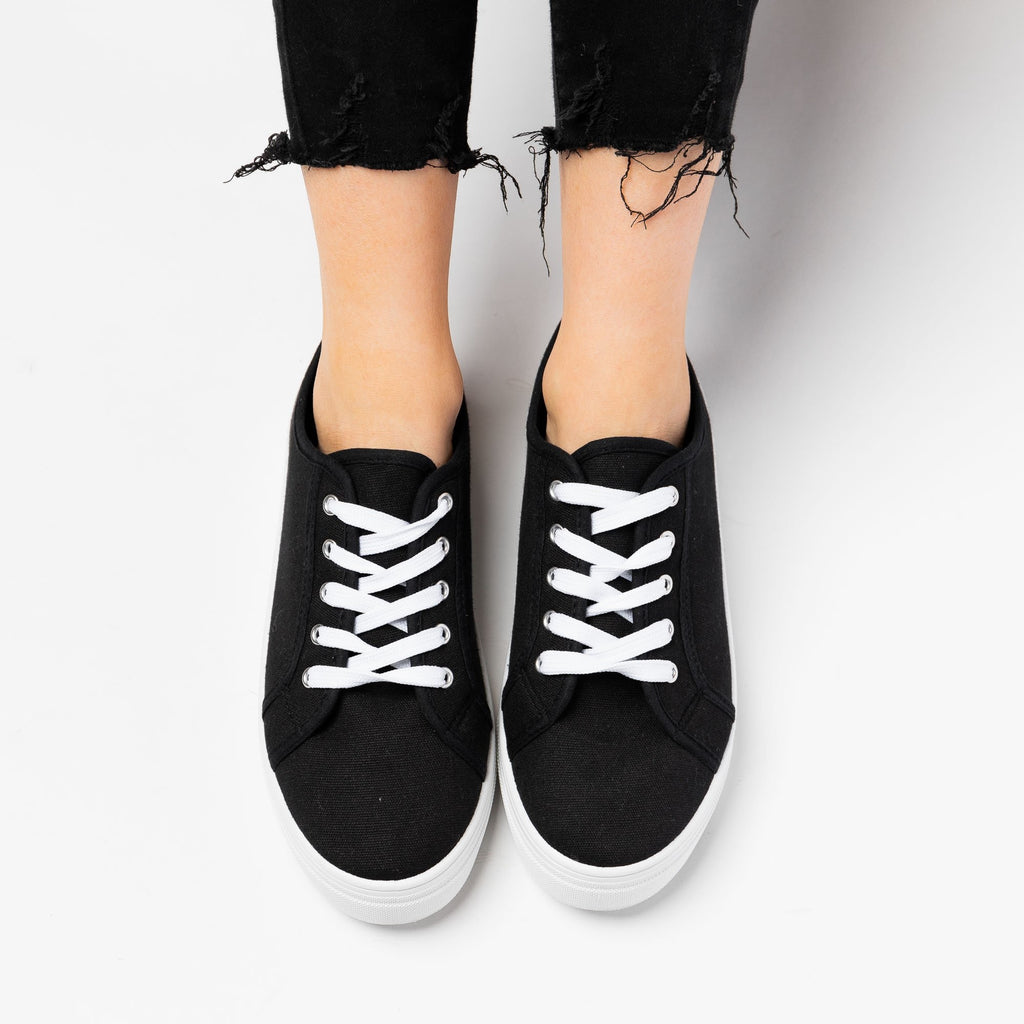 Women's Classic Platform Sneakers - La Sheelah Shoes