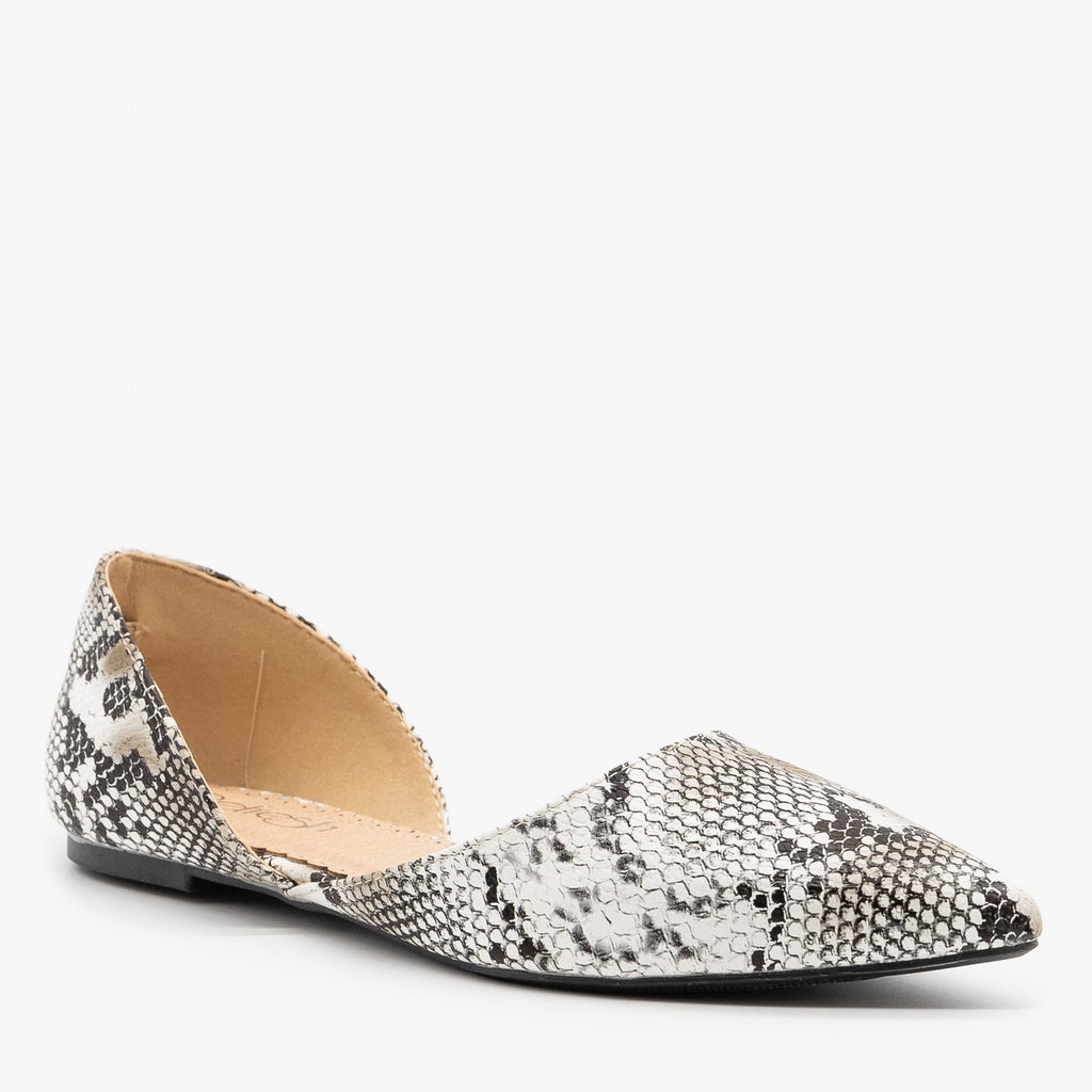 Womens Classic Pointed Toe dOrsay Flats - Refresh