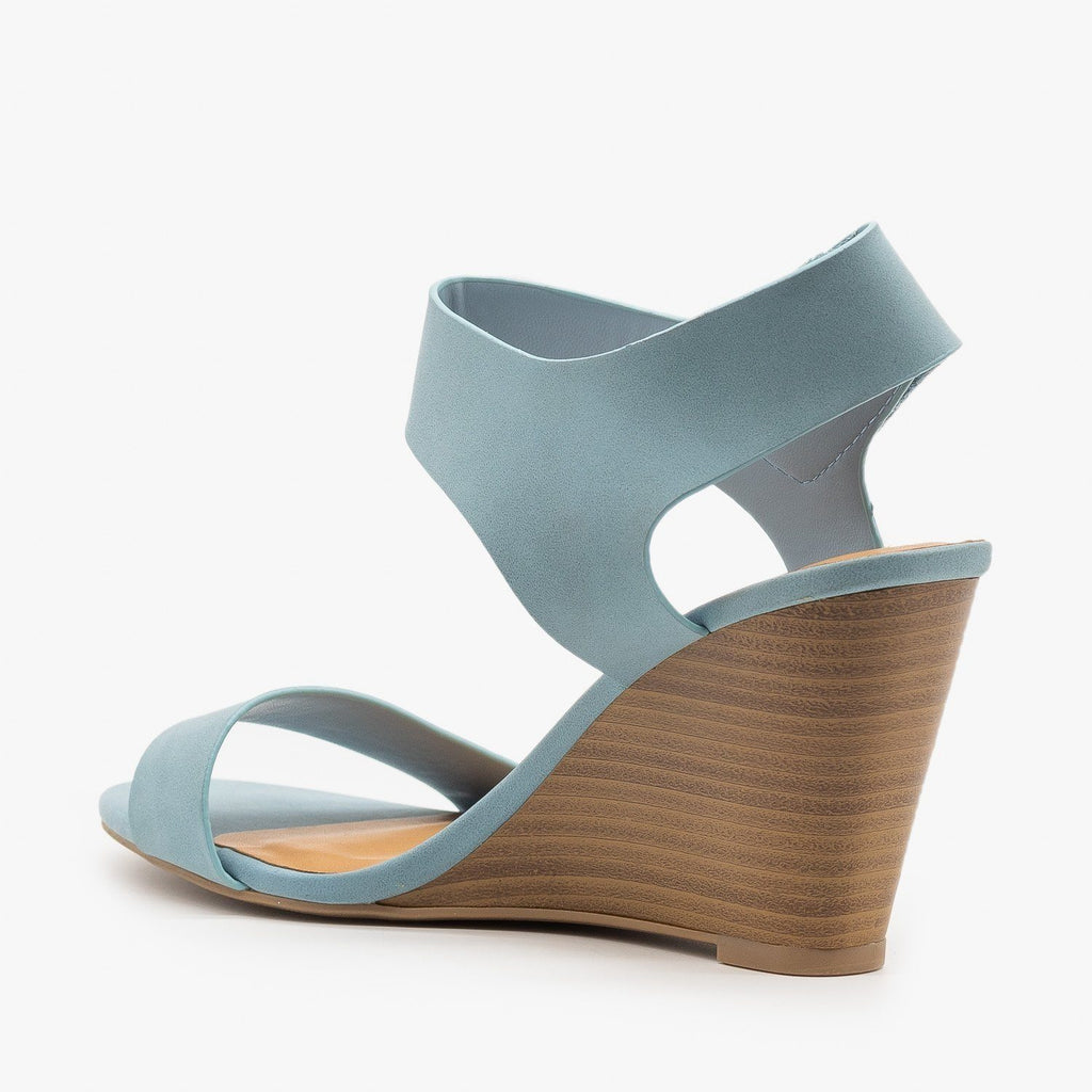 Womens Classic Wedge Sandals - Delicious Shoes