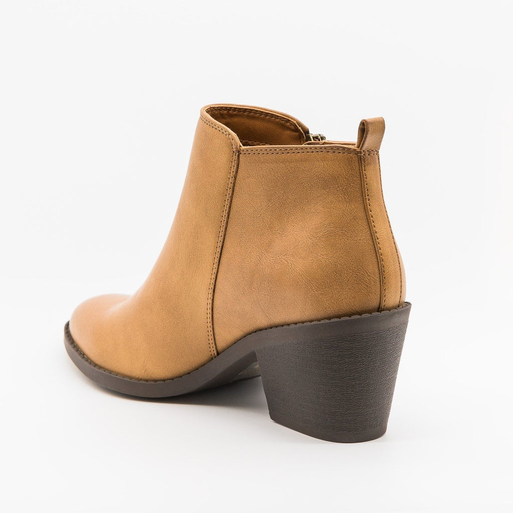 Womens Classy Ankle Booties - Soda Shoes