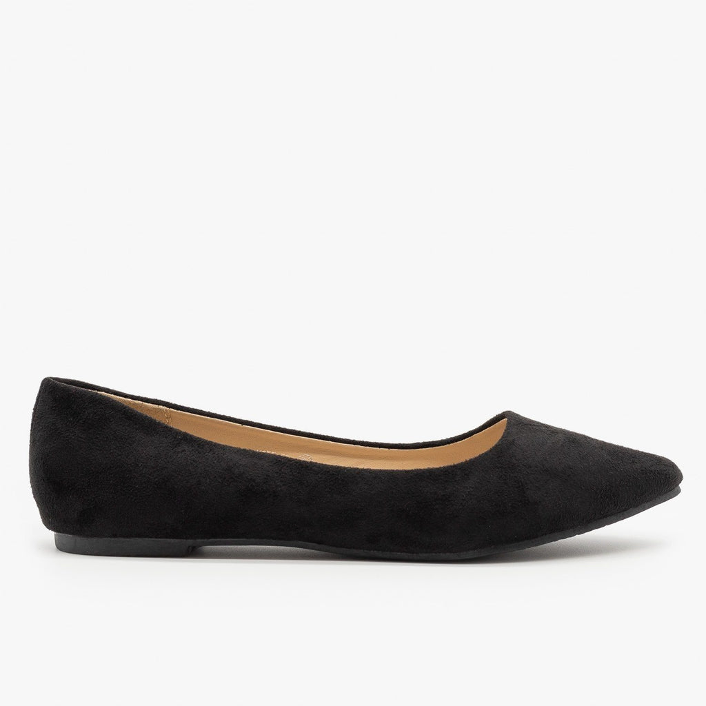Womens Classy Pointed Toe Flats - Bella Marie