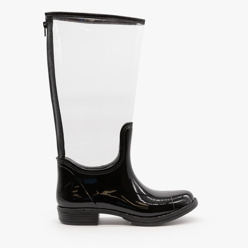 Womens Clear Rain Boots - Qupid Shoes - Clear / 5