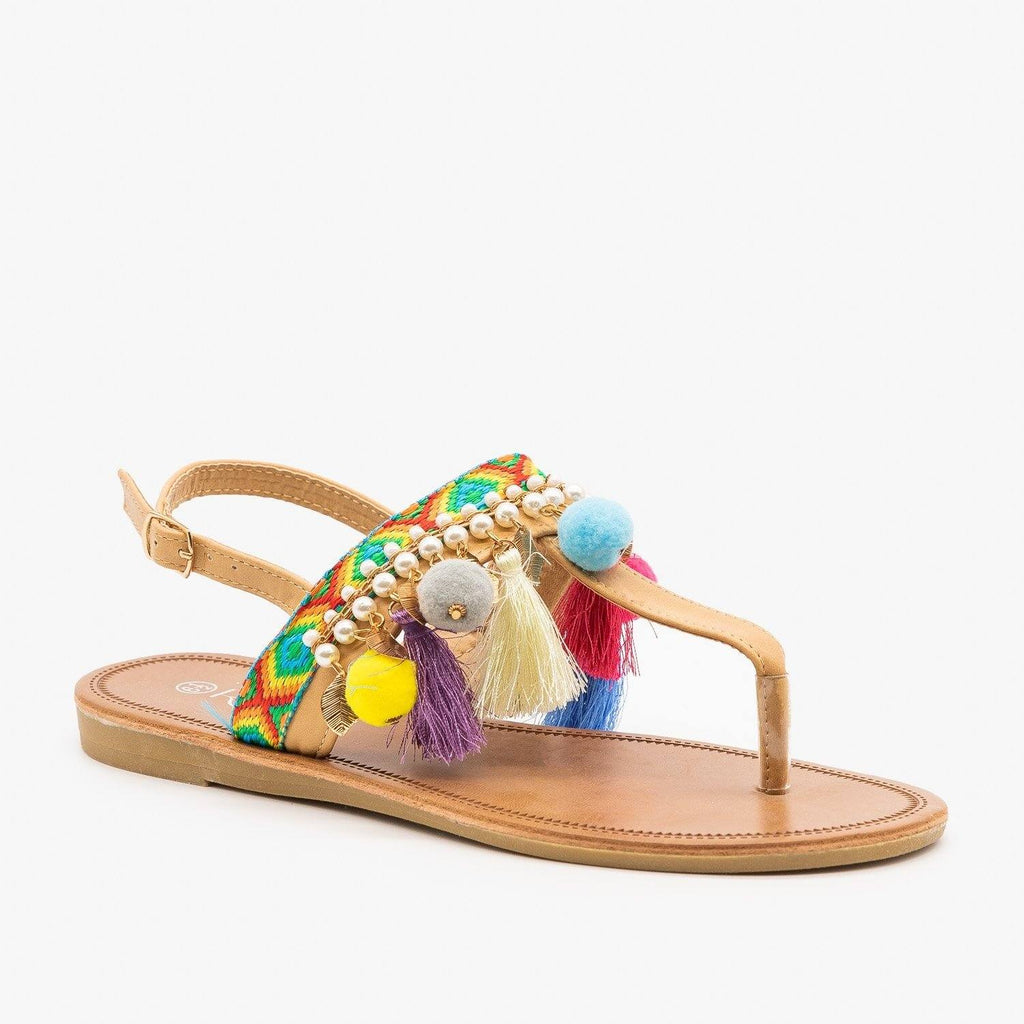 Womens Colorful Boho Sandals - Refresh