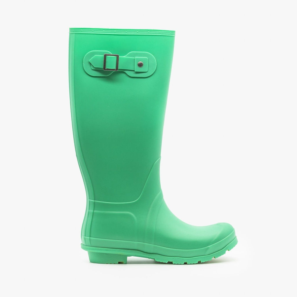 Womens Colorful Classic Rain Boots - Weeboo - Ocean Swell / 5