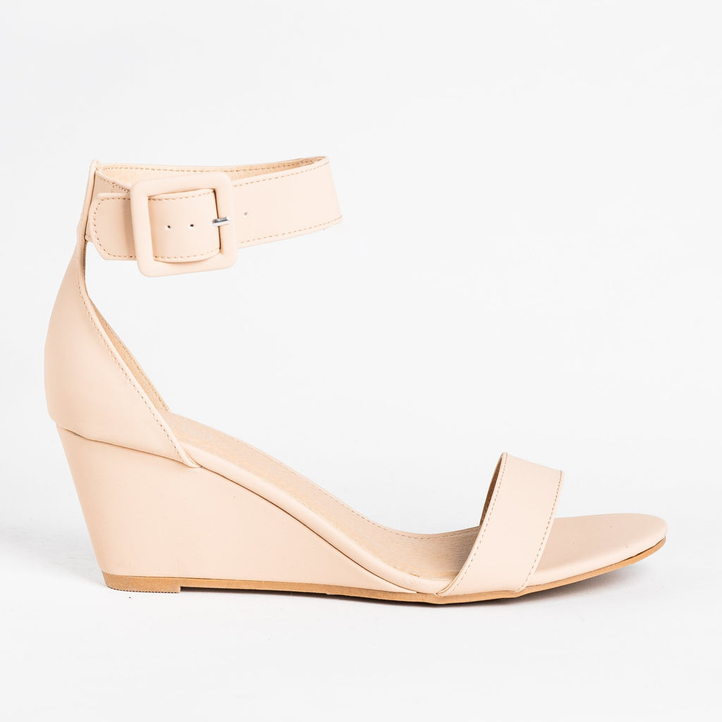 Womens Colorful Everyday Fashion Wedges - Charlotte Russe - Nude / 5