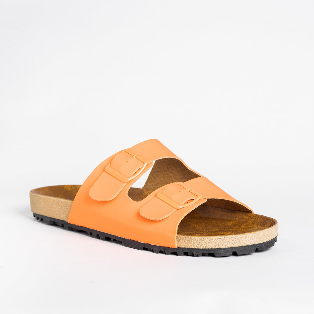 Womens Colorful Fashion Slides - Shoetopia - Orange / 5