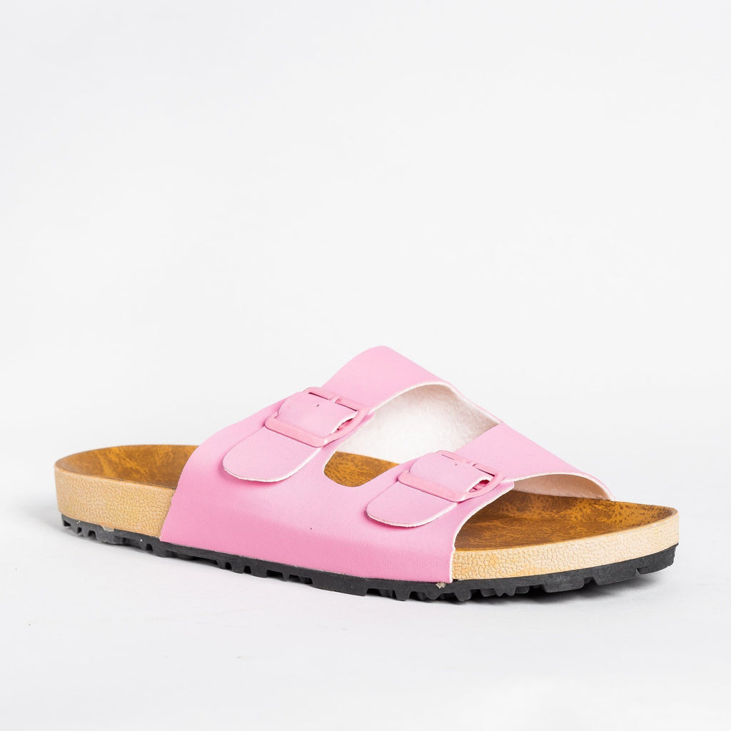 Womens Colorful Fashion Slides - Shoetopia - Pink / 5