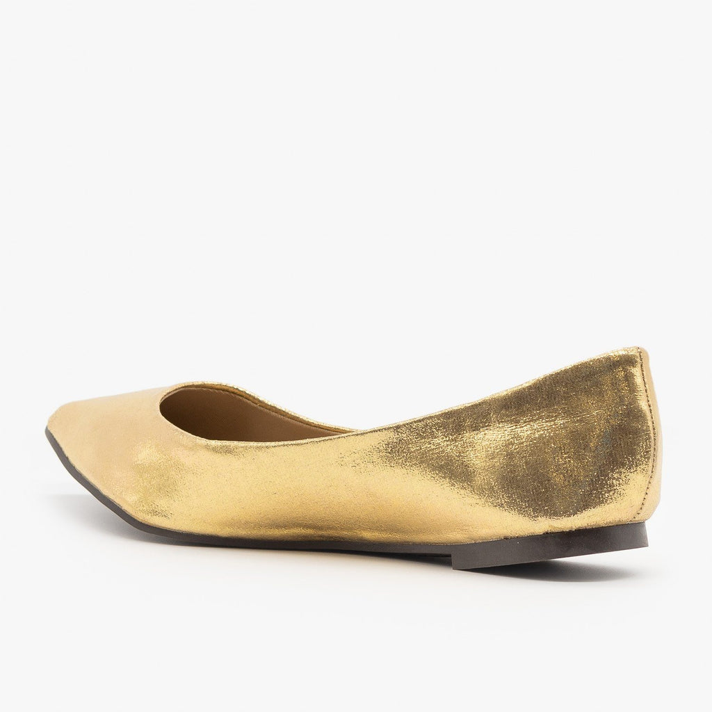 Womens Colorful Pointed Toe Ballet Flats - Breckelles