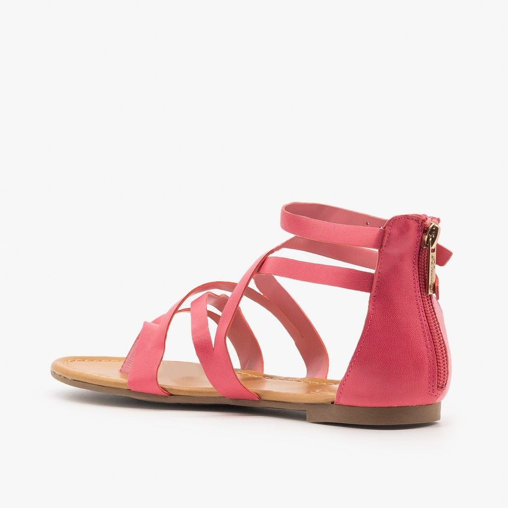 Womens Colorful Strappy Sandals - Breckelles