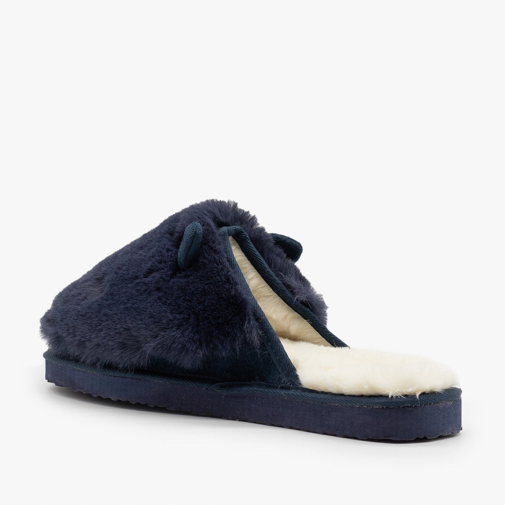Womens Comfy Animal Ear Furry Slippers - Refresh
