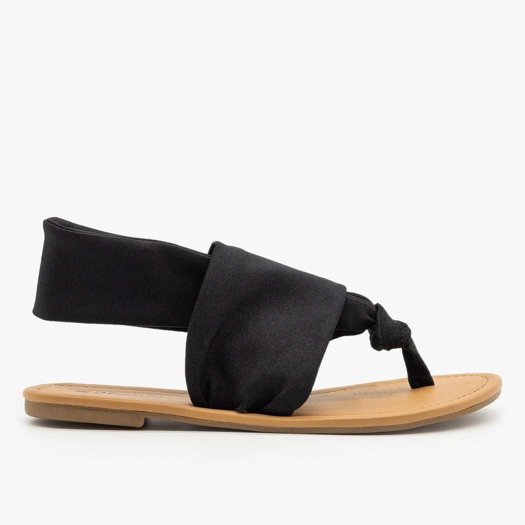Womens Comfy Cloth Sandals - Modit - Black / 5