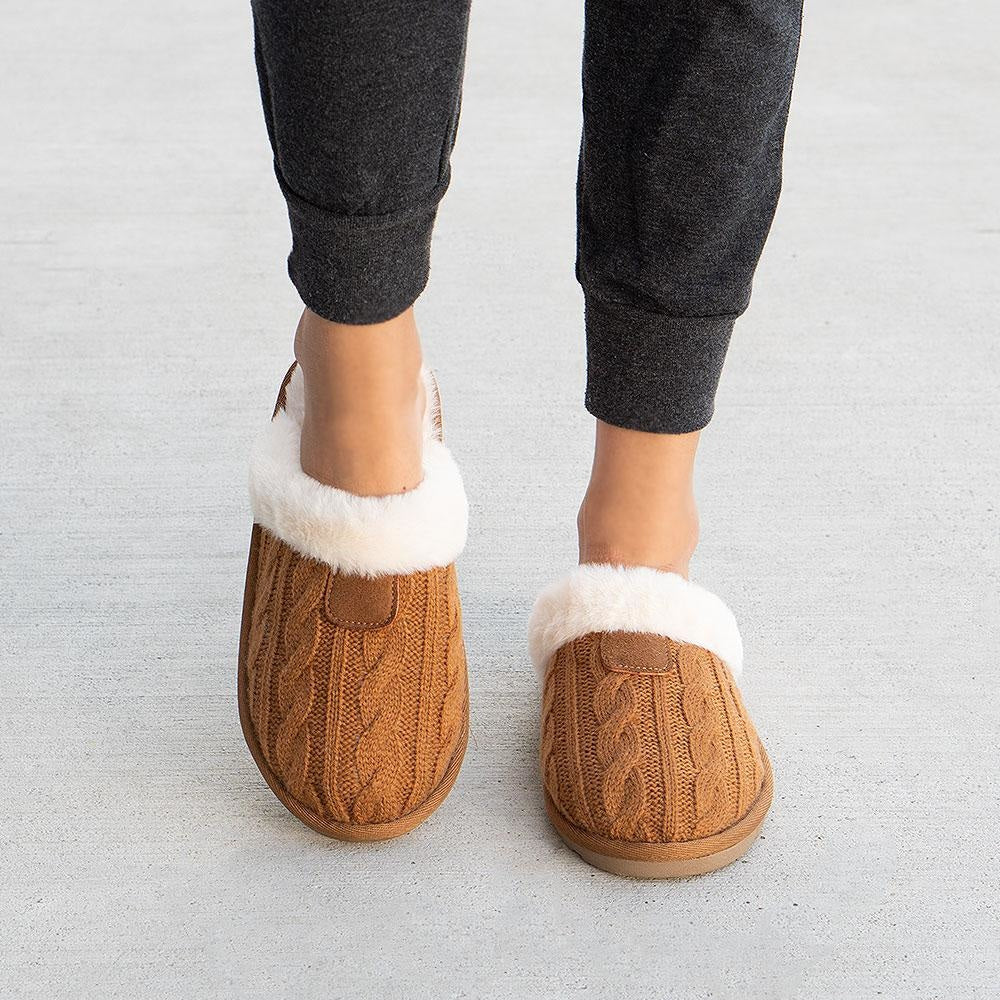 Women's Comfy Knitted Slippers - Forever