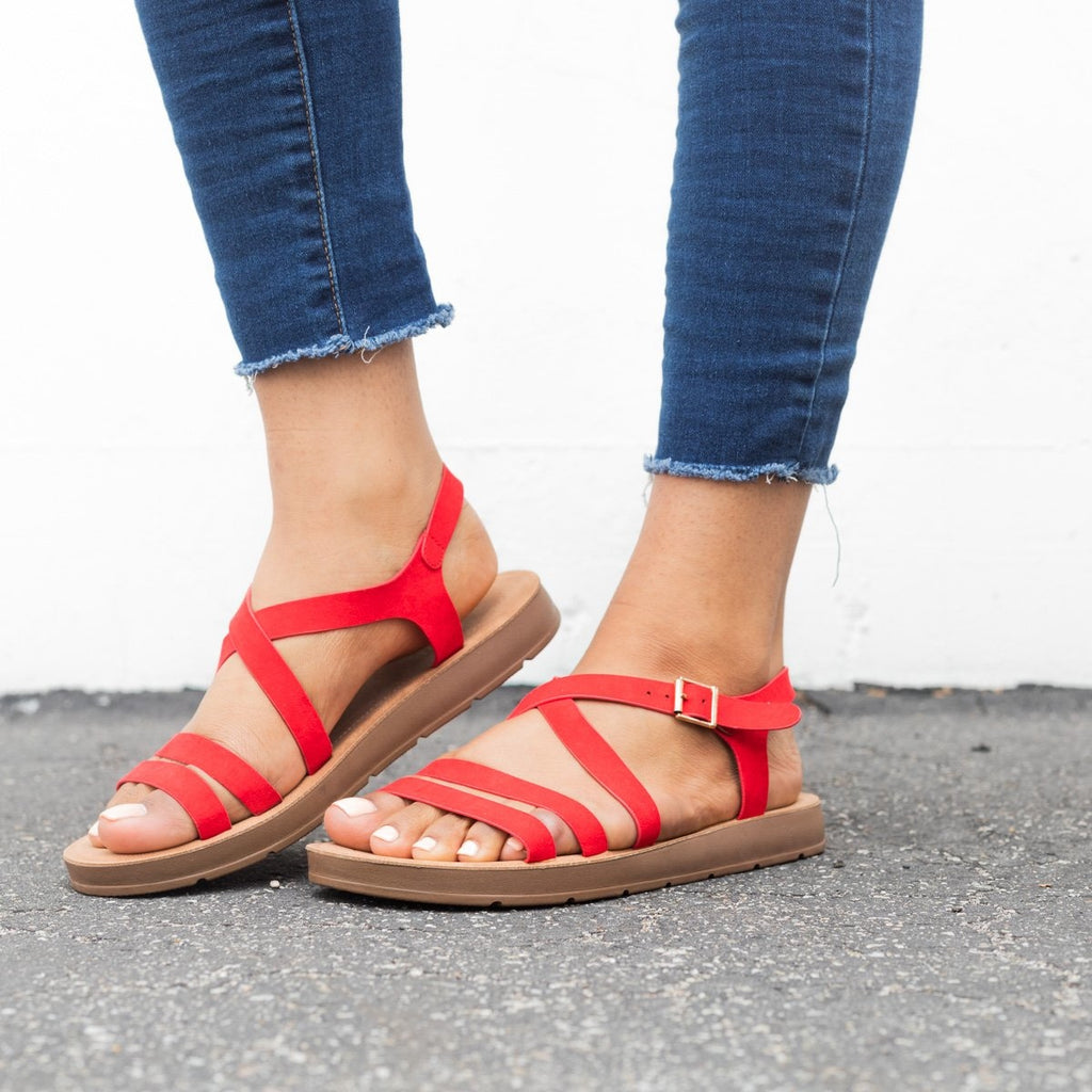 Womens Comfy Open Toe Sandals - Bamboo Shoes