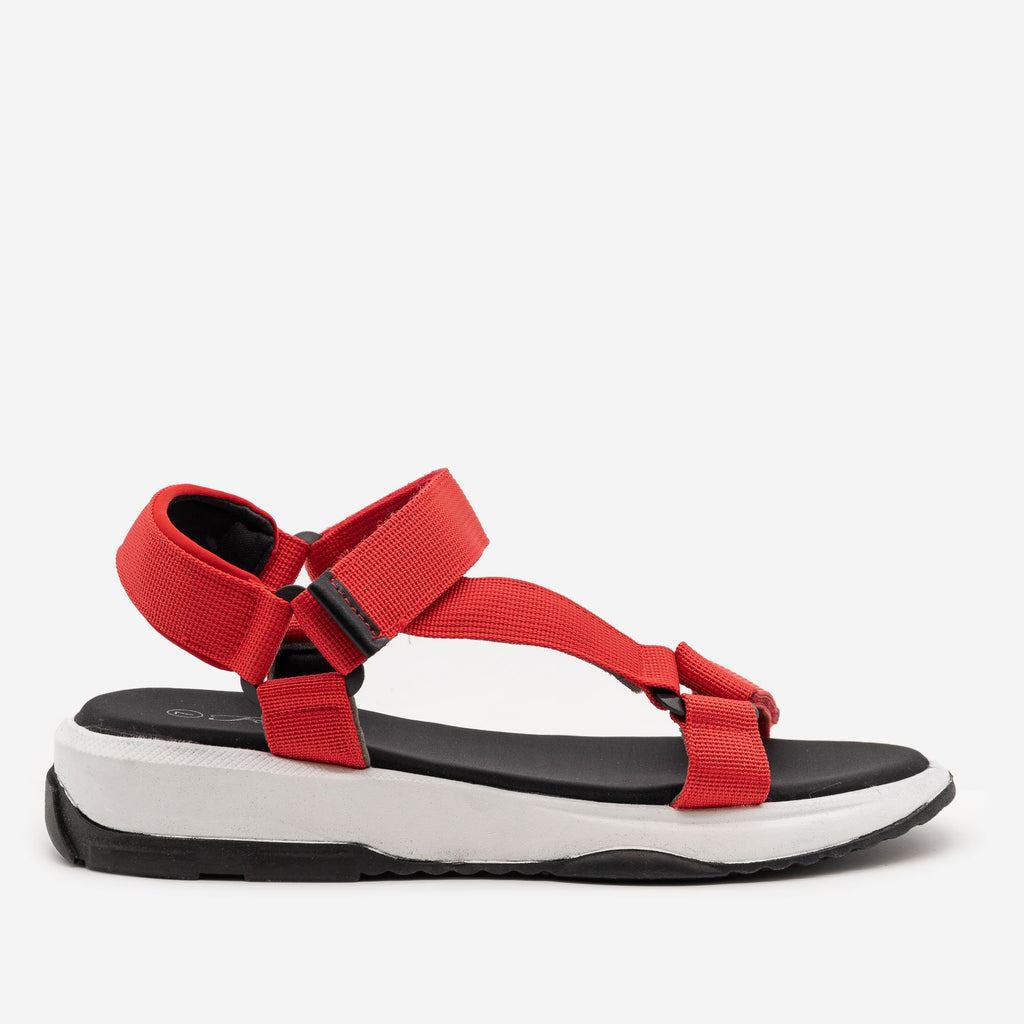 Women's Comfy Outdoor Sandals - Forever - Red / 5
