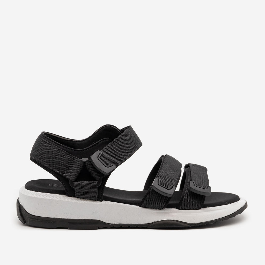 Women's Comfy Outdoor Velcro Sandals - Forever - Black / 5