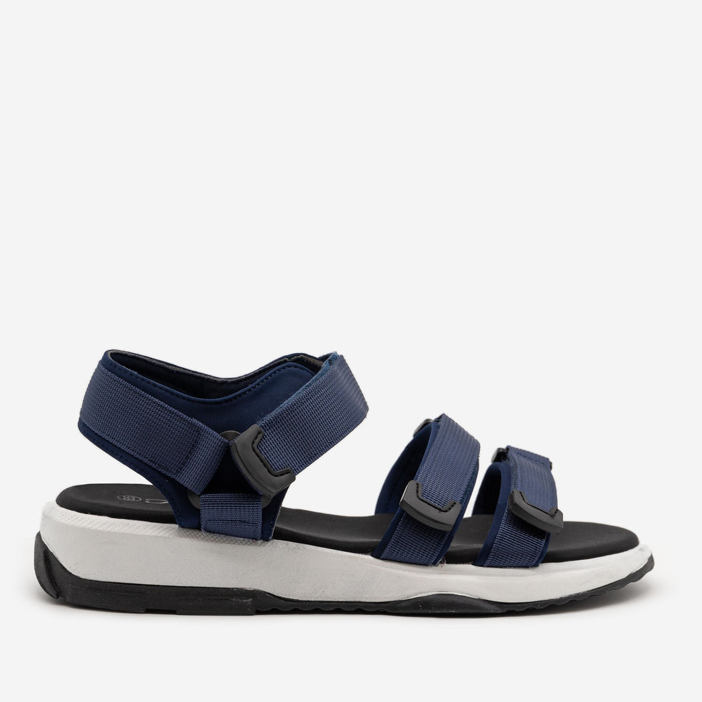 Women's Comfy Outdoor Velcro Sandals - Forever - Navy / 5