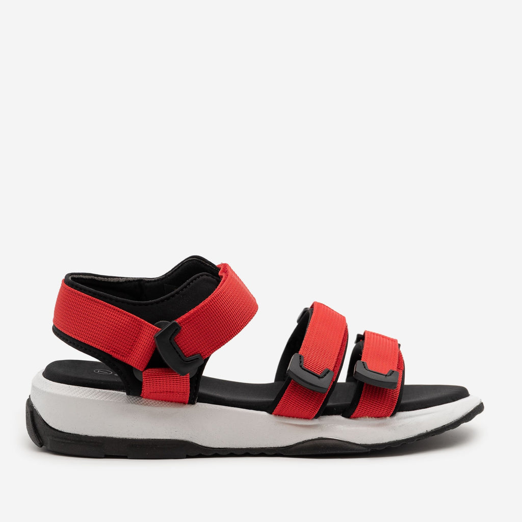 Women's Comfy Outdoor Velcro Sandals - Forever - Red / 5
