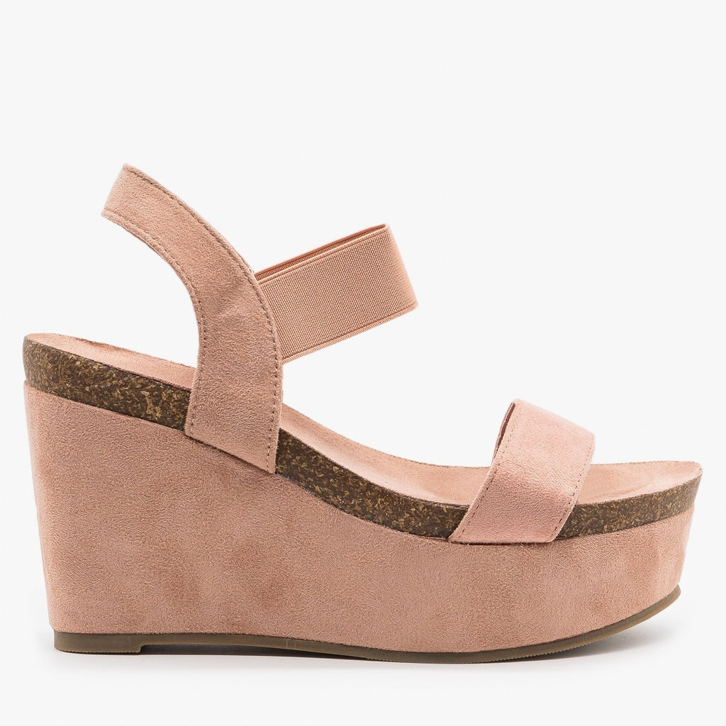 Womens Comfy Sassy Platform Wedges - Refresh - Mauve / 5