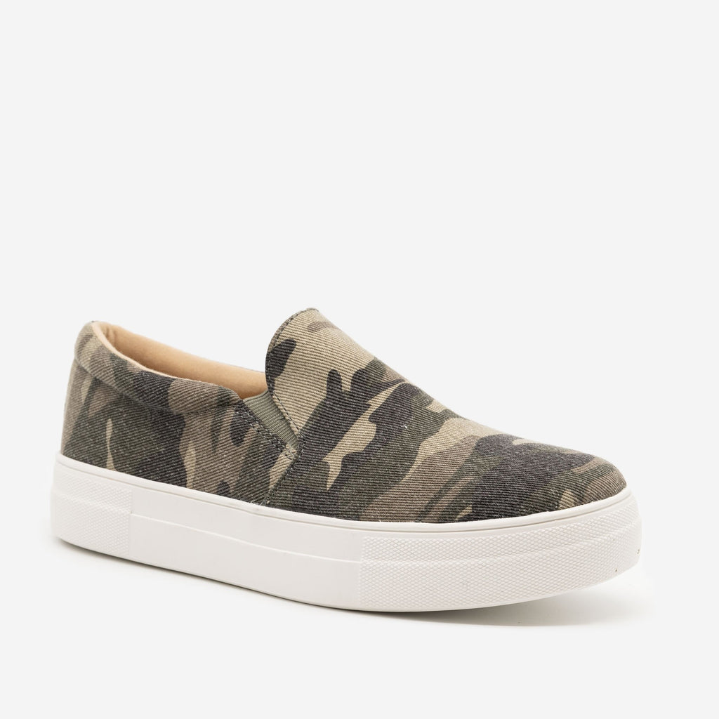 Women's Comfy Slip-on Sneakers - Soda Shoes