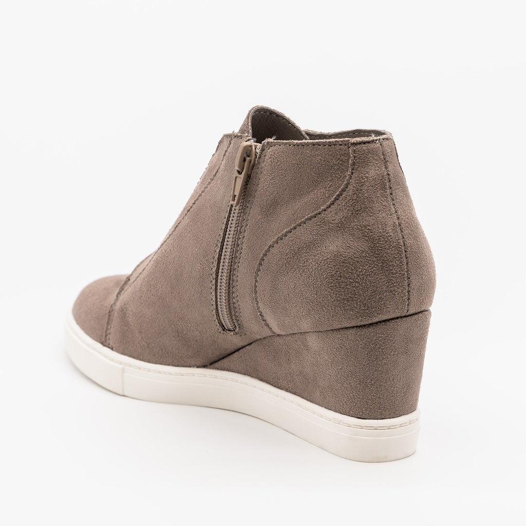 Womens Comfy Sporty Sneaker Wedges - Soda Shoes