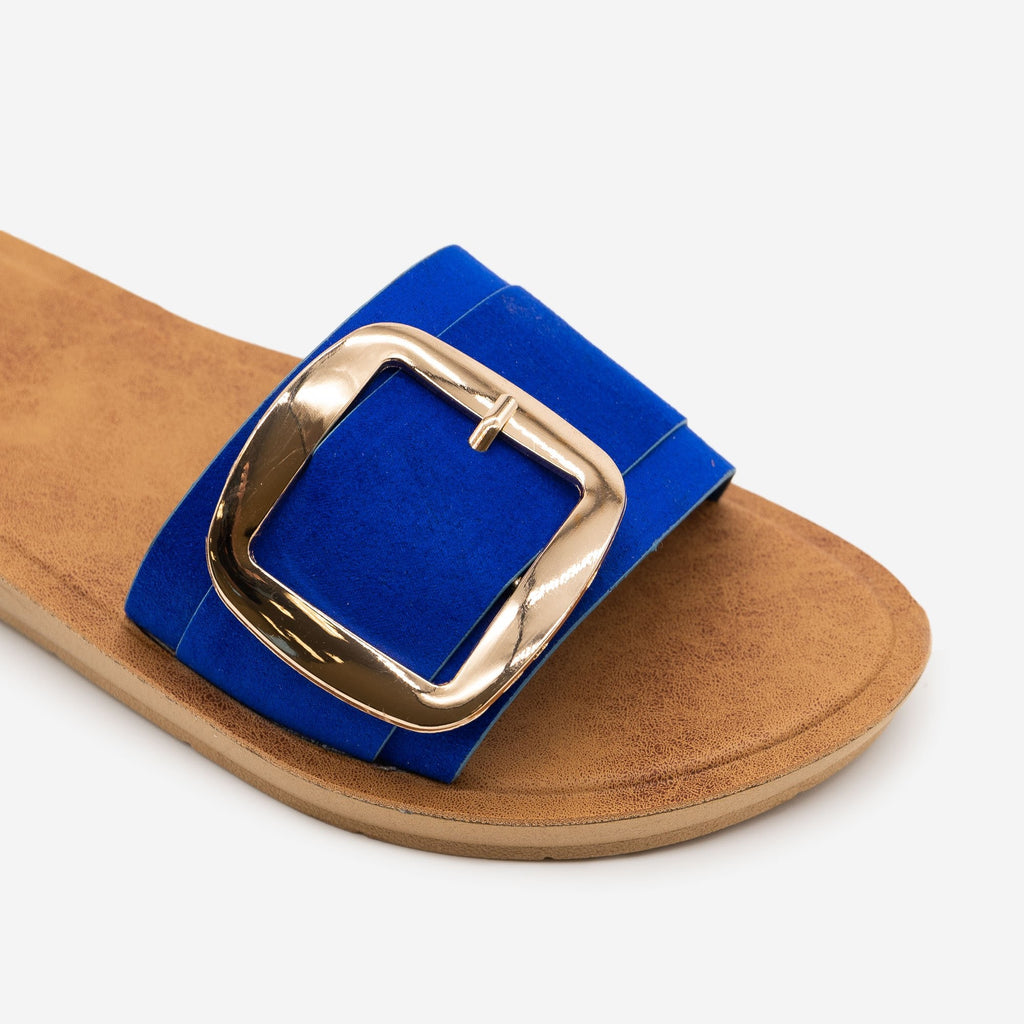 Women's Comfy Square Buckle Sandals - Bamboo Shoes