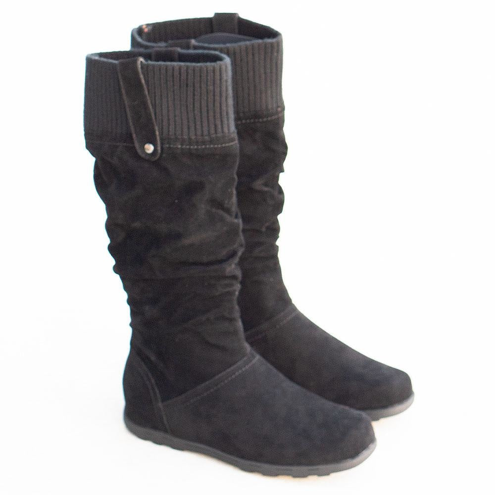 Women's Comfy Stretch Boots - Refresh - Black / 5